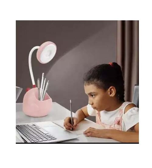 Table Led Lamp USB Rechargeable Flexible Desk Lamp With Pen Holder