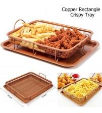 Multi Purpose Copper Rectangle Crispy Tray