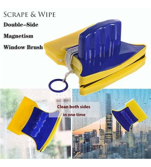 Double Sided Magnetic Window Cleaner Glass Wiper Cleaning Brushes For Washing Windows Household Cleaning Tool