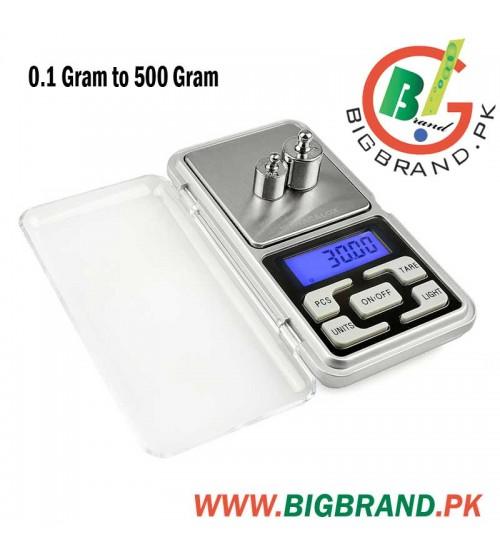 0 1 Gram to 500 Gram Mini Pocket Digital Scale