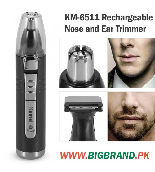 kemei km 6511 rechargeable nose and ear trimmer. Black Bedroom Furniture Sets. Home Design Ideas
