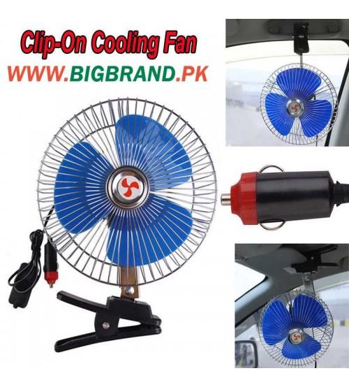 Large 12 Volt Fan : Car v portable inch oscillating fan with clip