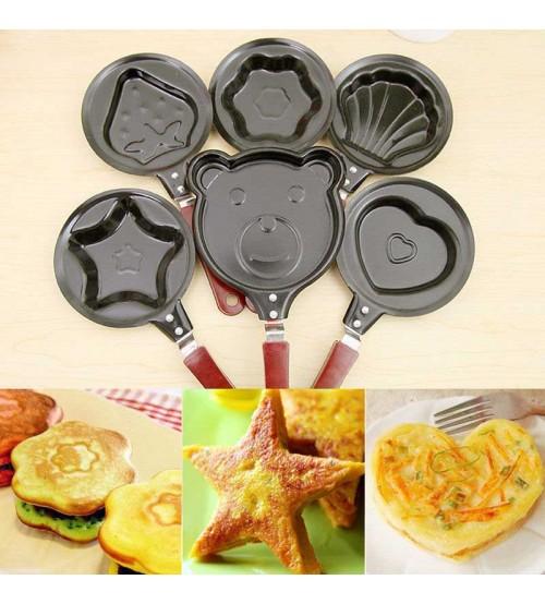Pack Of 6 Egg Pancake Mini Non Stick Pot Frying Kitchen Pan