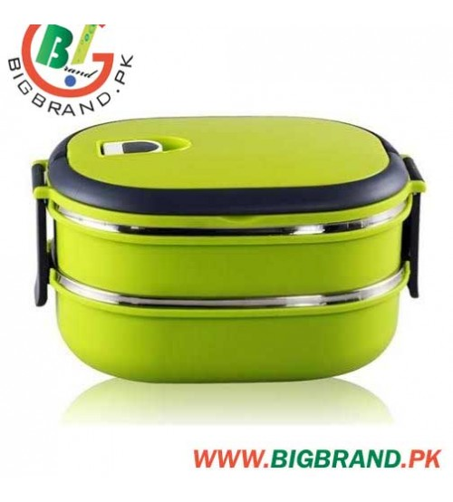 Homio Square Stainless Steel Two Layer Lunch Box