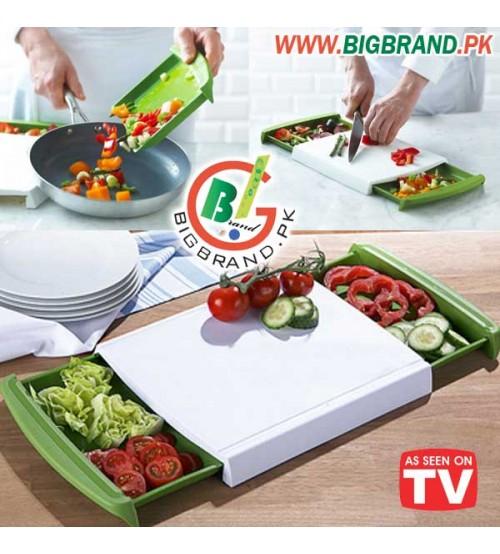 Chop n clear cutting board - The big chop cutting board ...