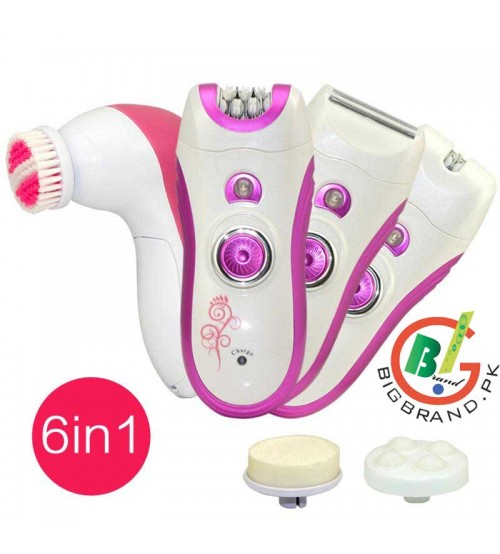 Kemei 6in1 Womens Epilator Electric Hair Removal Km 3066