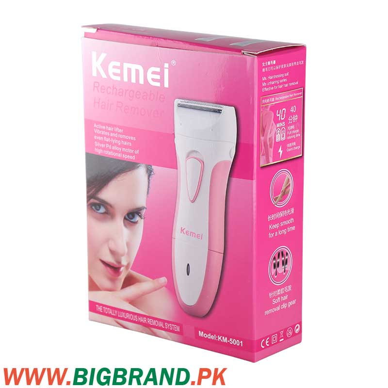 Kemei Lady Rechargeable Electric Hair Remover Machine Km 5001
