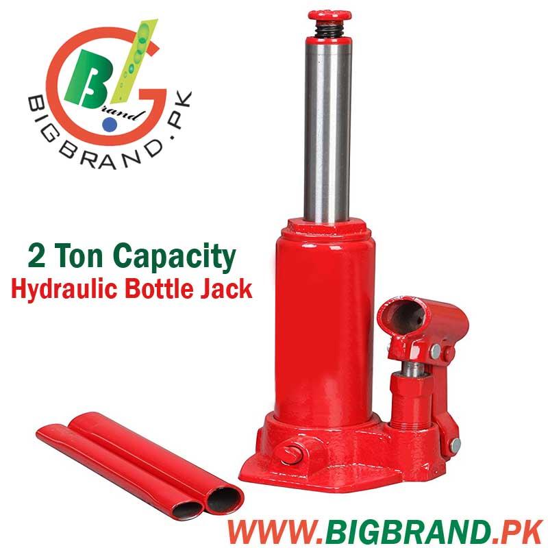 Red 2 Ton Capacity Car Hydraulic Bottle Jack
