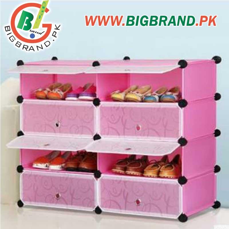 Multi-purpose 4 Tier Storage Plastic Rack