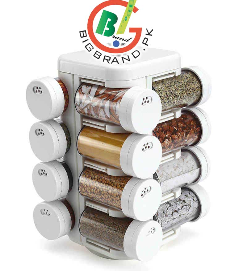 Latest 16in1 Rotating Kitchen Mate Spice Jar Set