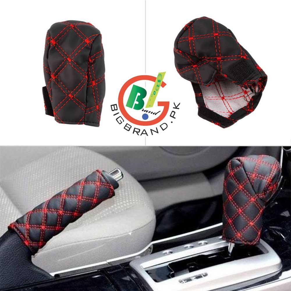 3in1 Car Auto Gear Shift Hand Brake Rear View Mirror Cover Set