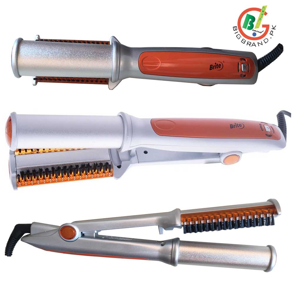Brite 2in1 Hair Straightener And Curling Iron Bhc 443 In